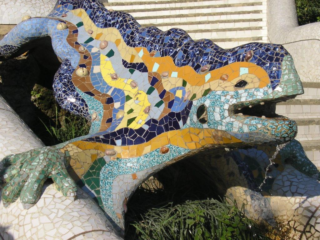 Gaudi's Beatiful dragon scupture