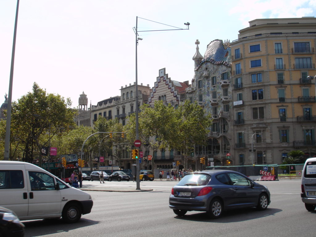 The Block Of Dischord features some of the works of Barcelona's prominent modernist architects