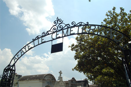 Beautiful Iron Fence marks the entrance to Lafayette Cemetery