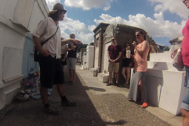 Inside the St. Louis Cemetery