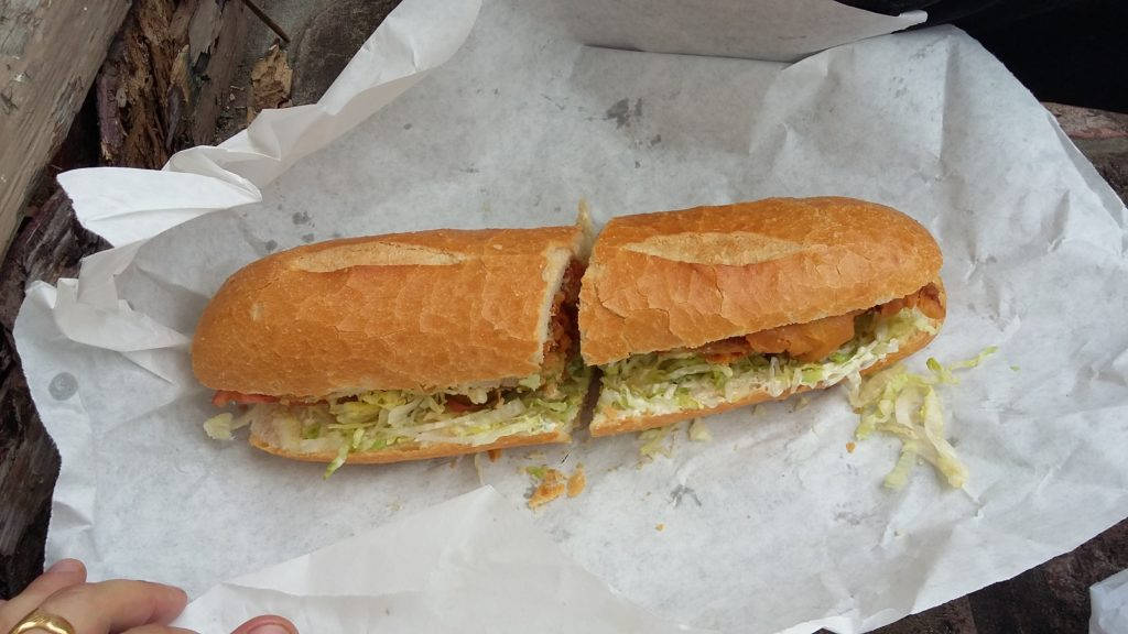 at $5.09 the boneless chicken Po-boy is worth it