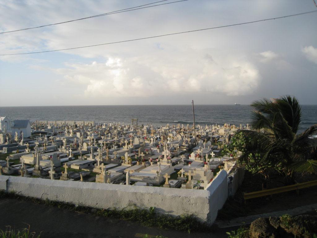 Above ground tombs in La Perla, Puerto Rico