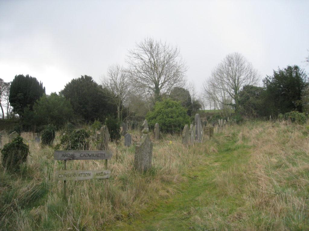 Graveyard in Llangelynin, Wales