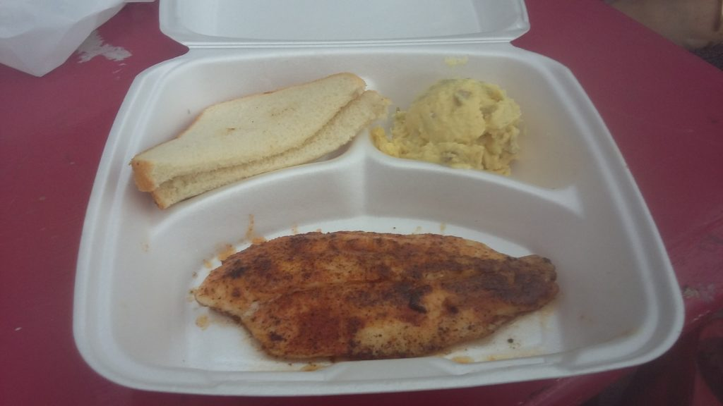 The Blacked Catfish was excellent.